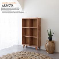 아르스노바 하드우드 켐파스원목책장 3단 800