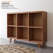 아르스노바 하드우드 켐파스원목책장 2단 1200