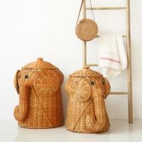 코끼리 라탄 바구니 2종