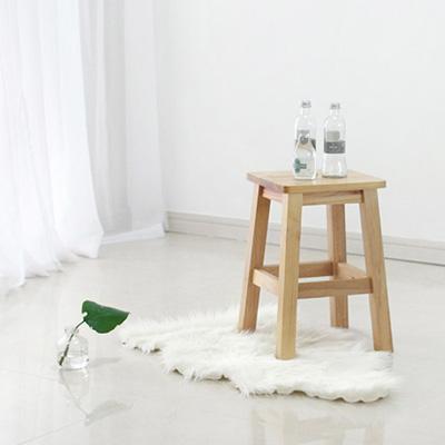 [벤트리]원목 다용도 사각스툴 大자형