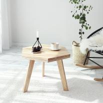 [벤트리] 원목 육각 사이드 테이블