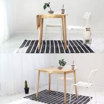 [벤트리] 원목 라운디시 슬라이딩 테이블 소