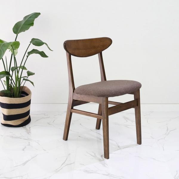 [벤트리] 오크 원목 식탁의자(브라운)