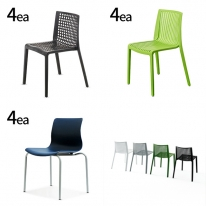 인테리어의자 4개 사무용의자 카페 사무실 디자인체어