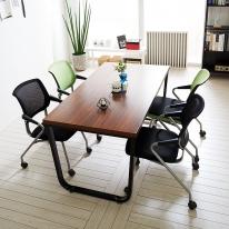 스틸뷰 1200테이블세트 회의실 4인용 철제테이블 책상