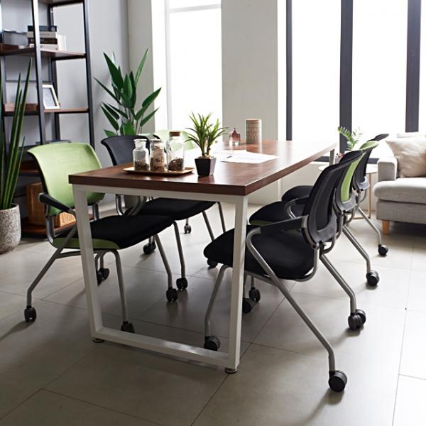 사무용 회의실 철제테이블 1800 테이블 6인 테이블