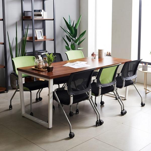 테이블 책상 회의실 철제테이블 사무용 미팅 회의용