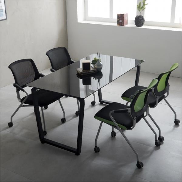 4인미팅 사무용 책상 다이아 1200 테이블 국산 회의용