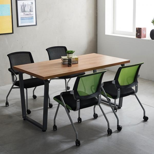 사무용 책상 회의용 다이아 1500 테이블 국산 4인미팅
