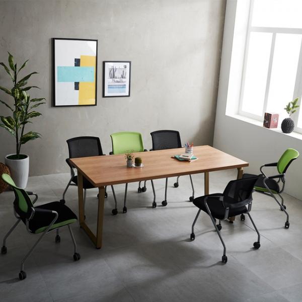 테이블 국산 6인미팅 사무용 다이아 1800 책상 회의용