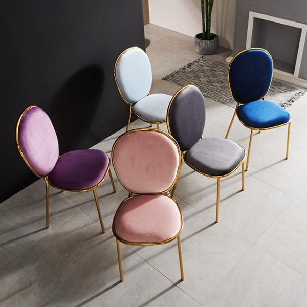 체어 벨벳의자 의자 1+1 식탁의자 디자인체어 철제의자