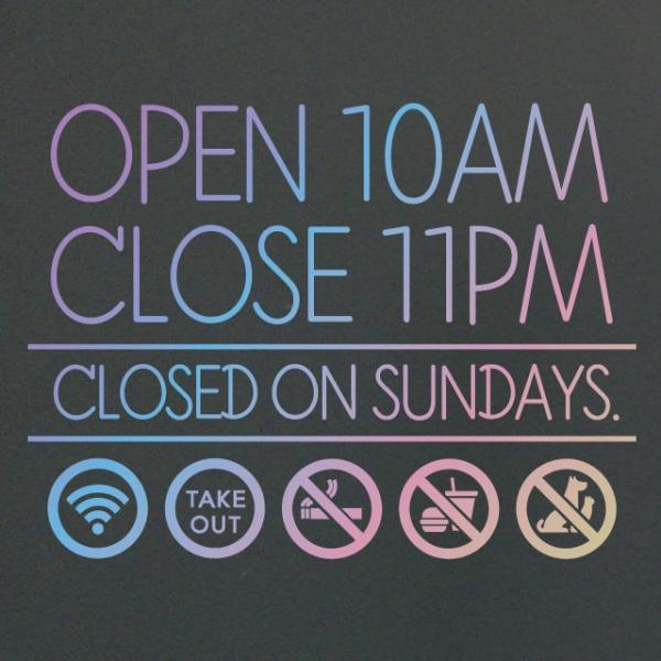 홀로그램 영업시간 오픈클로즈스티커 - 아이콘미