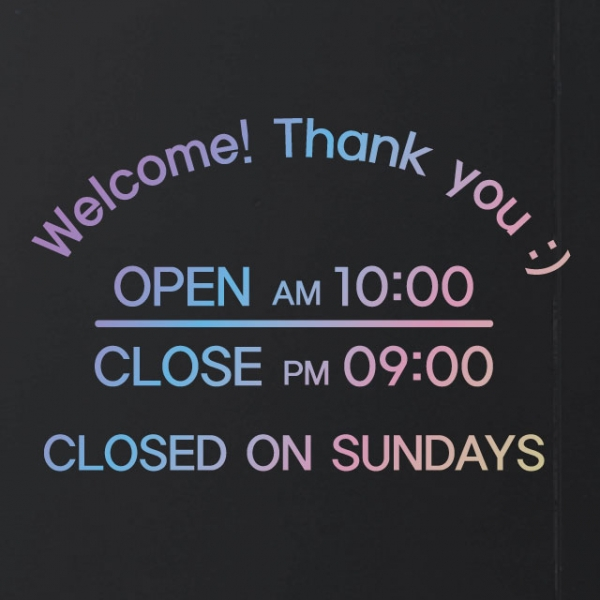 홀로그램 영업시간 오픈클로즈스티커 - 메이키