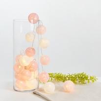 LED 코튼볼 핑크 무드등/수유등