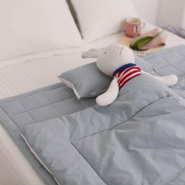 알러지케어 토끼인형 사계절 낮잠이불세트-블루