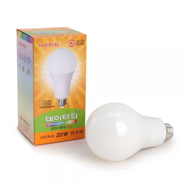 데이타임  LED전구 20W (KS인증-백열전구 200W 대체)