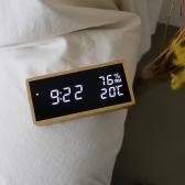 리얼우드 LED 시계 - 온습도표시