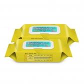 퍼펙트 살균소독티슈(효소포함) 80매 2팩