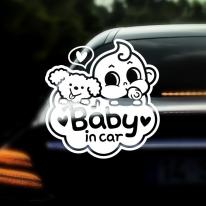 자동차스티커 아기가타고있어요 반사 031