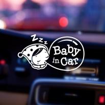 자동차스티커 아기가타고있어요 반사 025