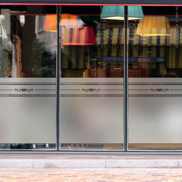 창문 유리창 컷팅안개시트지 심포니엔틱라인01
