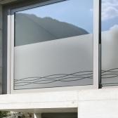 창문 유리창 컷팅안개시트지 트위스트심플라인01