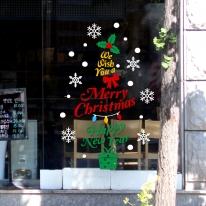 제제데코 크리스마스 눈꽃 스티커 장식 CMS4J058
