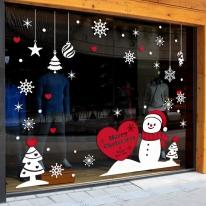 제제데코 크리스마스 눈꽃 스티커 장식 CMS4J095