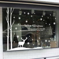 제제데코 크리스마스 눈꽃 스티커 장식 CMS4J172