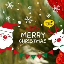 제제데코 크리스마스 눈꽃 스티커 장식 CMS4J244