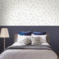 블루꽃 라이트블루 LG82444-1 풀바른실크벽지