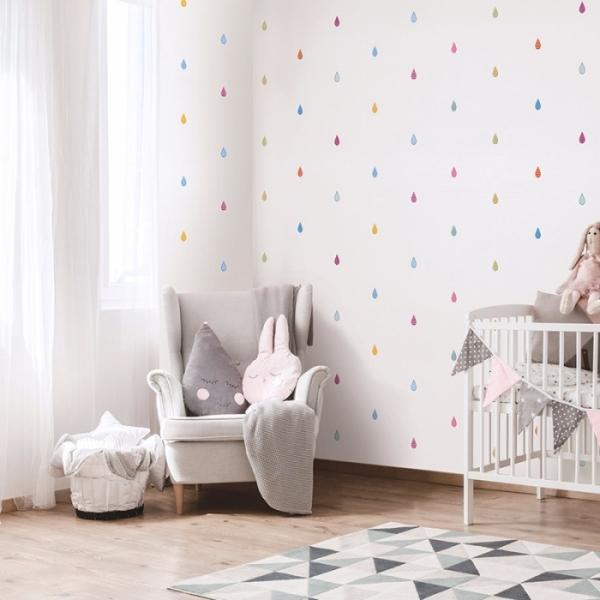 패턴물방울 화이트 LG82451-1 풀바른실크벽지