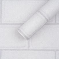 만능풀바른벽지 실크 G77250-1 라인브릭 라이트그레이