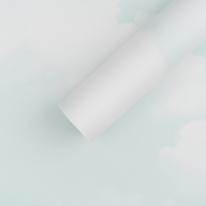 만능 풀바른벽지 합지 C45087-1 구름 민트