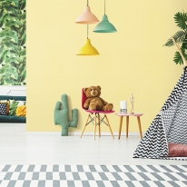 풀바른벽지 합지 LG49497-3 피그먼트 레몬