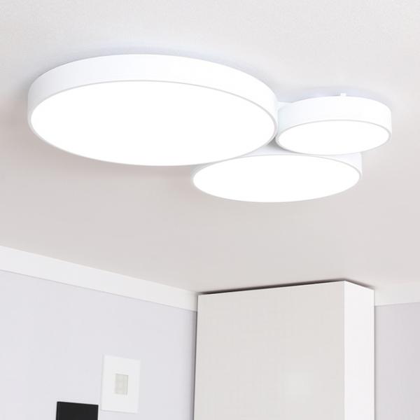 [아뜨레] LED 트리플 링 거실등 135W (화이트, 블랙)