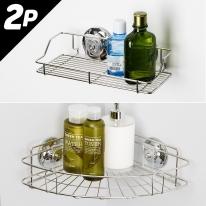 [스파이더락] 욕실선반 2종세트 A형(코너+선반소)