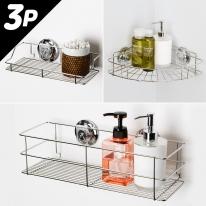 [스파이더락] 욕실선반 3종세트(선반소+400+코너)