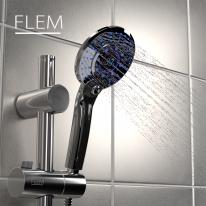 플램 ThermoPro 샤워기헤드 온도계 자가발전 FST775