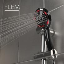 플램 ThermoPro 샤워기헤드 온도계 자가발전 FST770