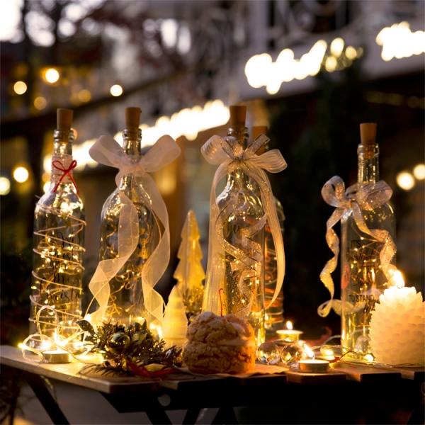 와인 파티 LED 무드등 (건전지타입/파티조명/크리스마스조명)