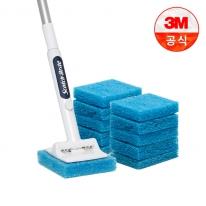 [3M]크린스틱 뉴올인원 욕실청소용 롱핸들+리필 11입
