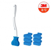 [3M]크린스틱 변기청소 핸들+리필 7입