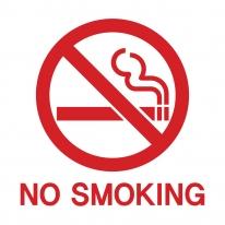No Smoking (금연 표시) - 그래픽스티커