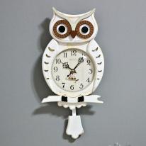 (kjco063)저소음 프린스부엉이벽시계 033 (빈티지 아이보리)