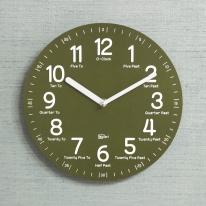 (kdrz116)키다리 저소음 영어 교육용 시계 카키