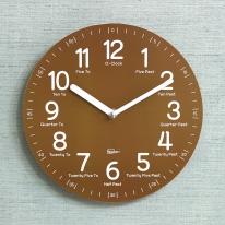 (kdrz119)키다리 저소음 영어 교육용 시계 갈색