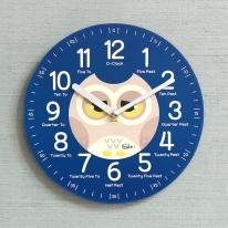 (kdrz125)키다리 저소음 부엉이 영어 교육용 시계 파랑