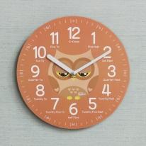 (kdrz127)키다리 저소음 부엉이 영어 교육용 시계 산호