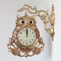 (kspz265)왕대박 부엉이 양면시계 (금핑크)